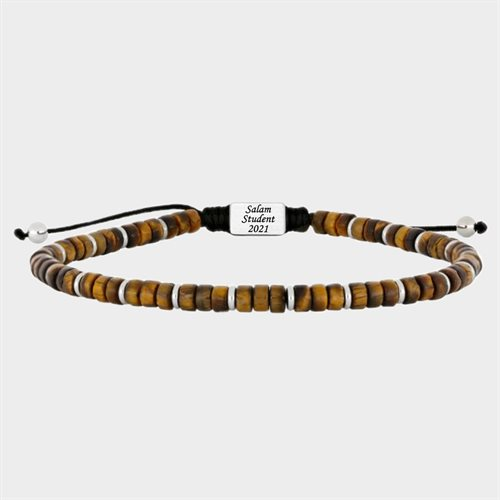 SON of NOA yl tiger eye herre armbånd - Gratis Gravering