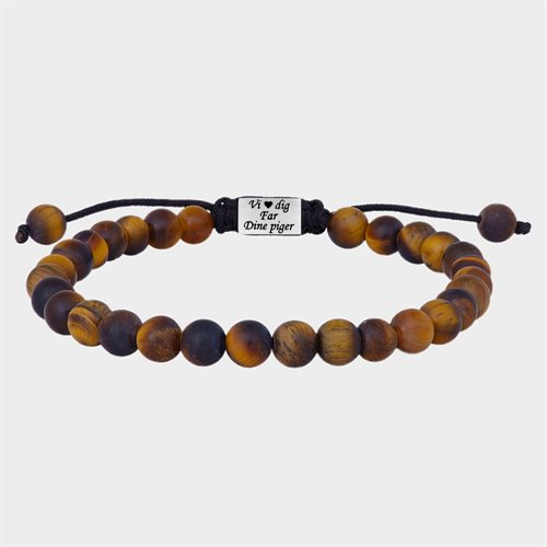 SON of NOA armbånd matt yellow tiger eye - Gratis Gravering